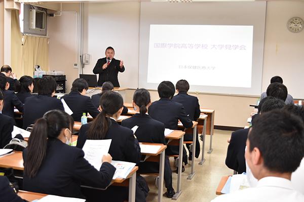 10/17(水)国際学院高校1年生の大学見学会を実施しました。